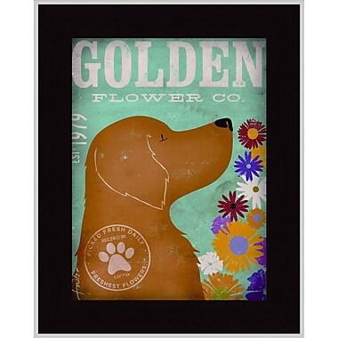 Tangletown Fine Art Golden Flower Co. by Stephen Fowler Framed Vintage Advertisement