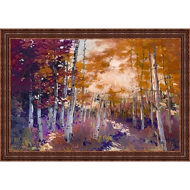 Tangletown Fine Art Golden Sunlight by Dennis Rhoades Framed Painting Print