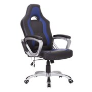 HomCom High-Back Executive Chair; Black/Blue
