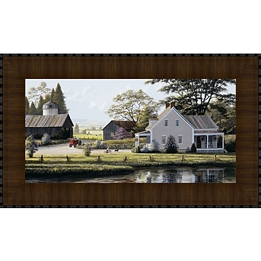 Tangletown Fine Art The Red Tractor by Bill Saunders Framed Photographic Print
