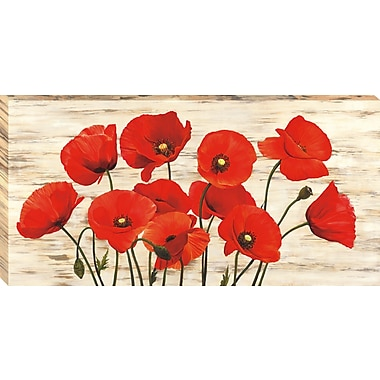 Tangletown Fine Art French Poppies by Serena Biffi Framed Painting Print on Wrapped Canvas