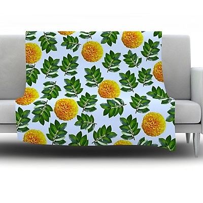KESS InHouse More Marigold by Sreetama Ray Fleece Throw Blanket; 90'' H x 90'' W x 1'' D WYF078277655577