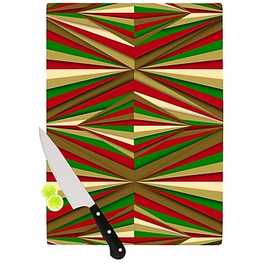KESS InHouse Christmas Pattern by Danny Ivan Cutting Board; 0.5'' H x 11.5'' W x 15.75'' D