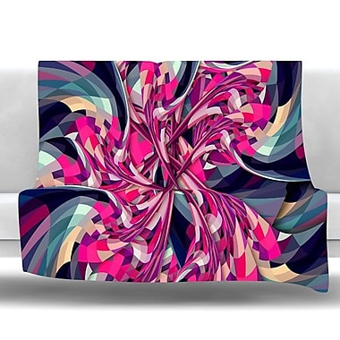 KESS InHouse Spiral by Danny Ivan Fleece Throw Blanket; 40'' H x 30'' W