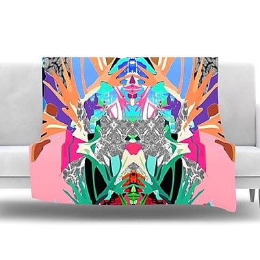 KESS InHouse Japanese Rorschach by Danii Pollehn Fleece Throw Blanket; 60'' H x 50'' W