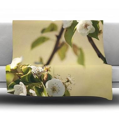 KESS InHouse Pear Blossom by Catherine McDonald Fleece Throw Blanket; 90'' H x 90'' W