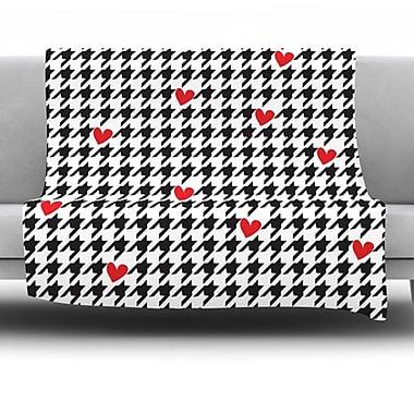 KESS InHouse Spacey Houndstooth Heart by Empire Ruhl Fleece Throw Blanket; 40'' H x 30'' W