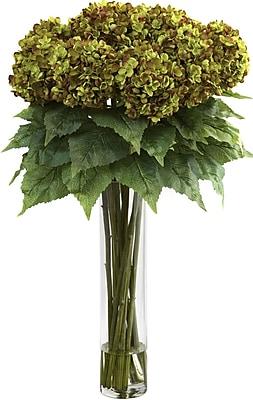 Nearly Natural Hydrangea w/ Cylinder Silk Flower Arrangement WYF078278345588