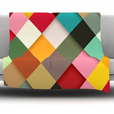 KESS InHouse Colorful by Danny Ivan Fleece Throw Blanket; 60'' H x 50'' W