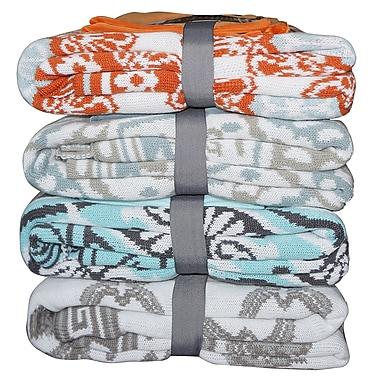 BOON Throw & Blanket Tivoli Knitted EZ Matching Throw Blanket and Pillow Sham Set