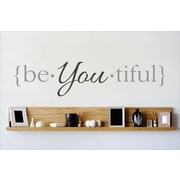Design With Vinyl Beyoutiful Wall Decal; 10'' H x 40'' W x 0.16'' D
