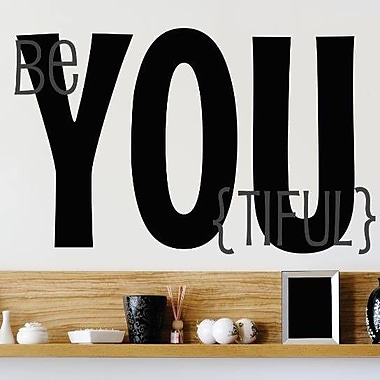 Design With Vinyl Beyoutiful Wall Decal; 22'' H x 30'' W x 0.16'' D