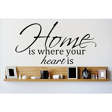 Design With Vinyl Home is Where the Heart is Wall Decal; 14'' H x 30'' W x 0.16'' D