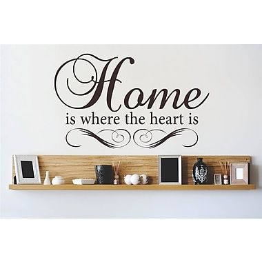 Design With Vinyl Home is Where the Heart is Wall Decal; 10'' H x 20'' W x 0.16'' D