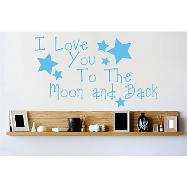 Design With Vinyl I Love You To the Moon and Back Wall Decal; 14'' H x 30'' W x 0.16'' D