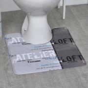 Evideco Atelier Loft Printed Microfiber Bath Toilet Contour Rug Mat