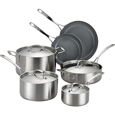 Lagostina Axia 10 Piece Stainless Steel Cookware Set