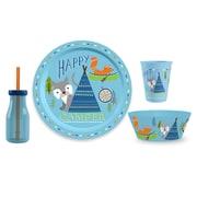 TarHong Happy Camper Polypropylene 4 Piece Dinnerware Set