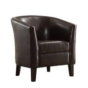 Poundex Bobkona Denzil Barrel Chair; Chocolate