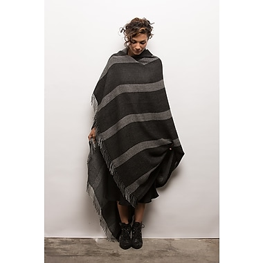 H Maison Odette Baby Alpaca Throw; Charcoal