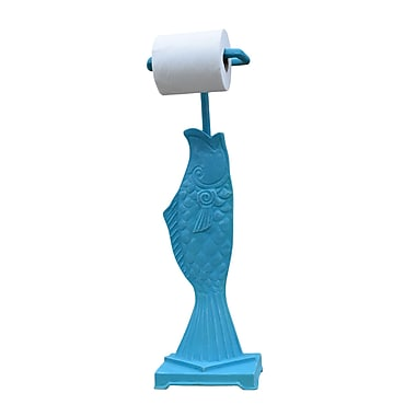 Hickory Manor House Freestanding Fish Toilet Paper Holder; Coastal Blue