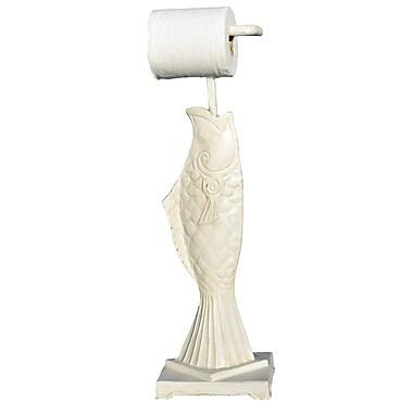 Hickory Manor House Freestanding Fish Toilet Paper Holder; White