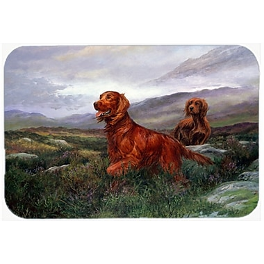 Caroline's Treasures Irish Setters Glass Cutting Board