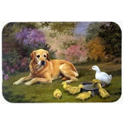 Caroline's Treasures Yellow Labrador and Chicks Glass Cutting Board