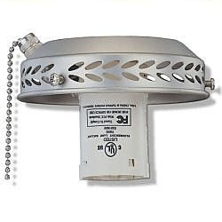 Royal Pacific 13W Single Light Fitter in Brushed Pewter