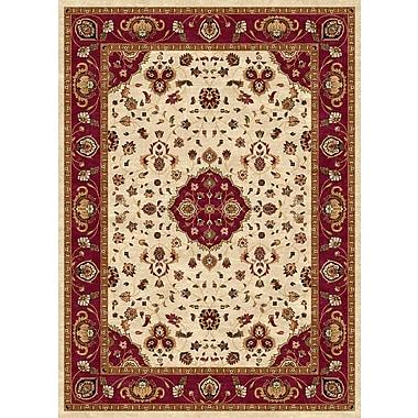 Luxury Home Ethnic Cream/Red Area Rug; 8' x 11'
