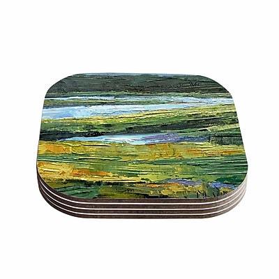 KESS InHouse ''Southern Marsh'' 4 Coasters Set (Set of 4)
