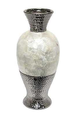 Sagebrook Home Ceramic Pearl Bottle Vase