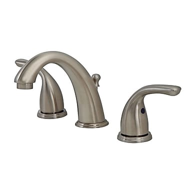 OakbrookCollection Standard Bathroom Faucet Double Handle; Brushed Nickel