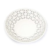 Sagebrook Home Ceramic Plate; White