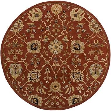 Artistic Weavers Middleton Allison Hand-Tufted Crimson/Beige Area Rug; Round 3'6''
