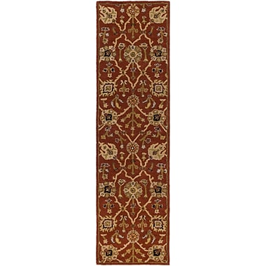 Artistic Weavers Middleton Allison Hand-Tufted Crimson/Beige Area Rug; Runner 2'3'' x 8'