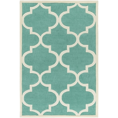 Artistic Weavers Santorini Harmony Hand-Tufted Mint/Ivory Area Rug; Rectangle 7'6'' x 9'6''