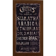 ByronAnthonyHome Coffees of the World Framed Textual Art