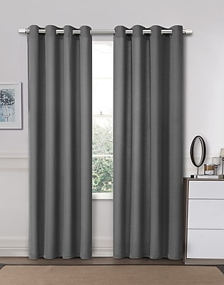 Ruthy's Outlet Curtain Panels (Set of 2); Gray