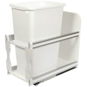 Knape&Vogt 12.5-Gal Cabinet Soft Close Pull Out Trash Can; White