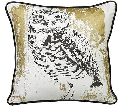 Westex Urban Loft Snow Owl Indoor/Outdoor Throw Pillow