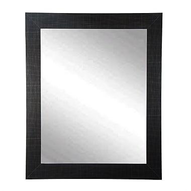 BrandtWorksLLC Modern Scratched Black Wall Mirror; 41'' H x 32'' W x 0.75'' D