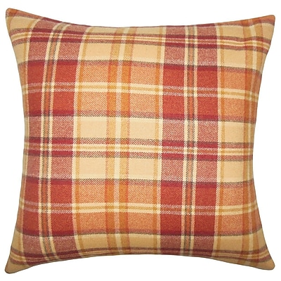 The Pillow Collection Heaton Plaid Wool Throw Pillow; 18'' H x 18'' W x 5'' D