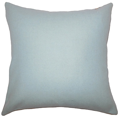The Pillow Collection Yandel Solid Wool Throw Pillow; 18'' H x 18'' W x 5'' D
