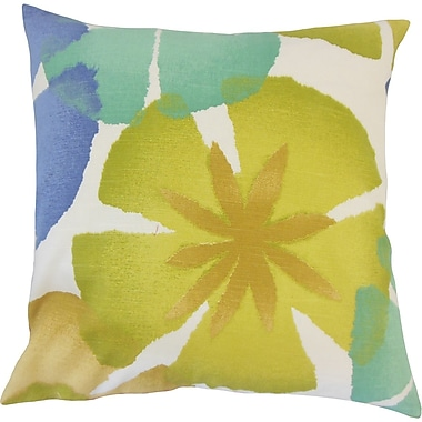 The Pillow Collection Samiya Floral Cotton Throw Pillow; 18'' H x 18'' W x 5'' D