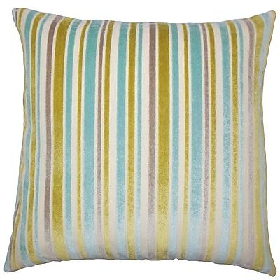 The Pillow Collection Lalana Striped Throw Pillow; 18'' x 18''
