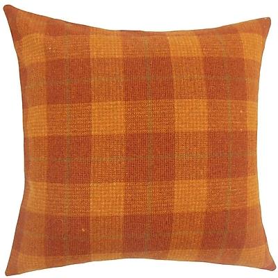 The Pillow Collection Damir Plaid Wool Throw Pillow; 20'' H x 20'' W x 5'' D