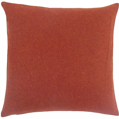 The Pillow Collection Taite Solid Throw Pillow; 18'' H x 18'' W x 5'' D