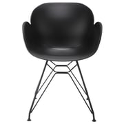 eModern Decor Arm Chair; Black