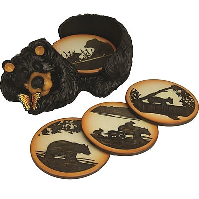 River's Edge Products 5 Piece Bear Coaster Set WYF078279180139